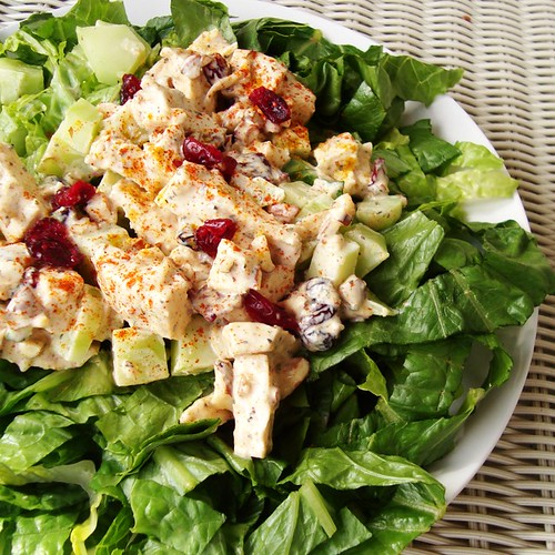 Curried Chicken Salad with Almonds and Cranberries | by newcookontheblock