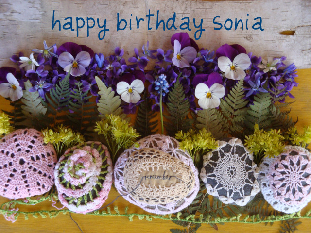 happy birthday sonia on birthday cake with message for sister