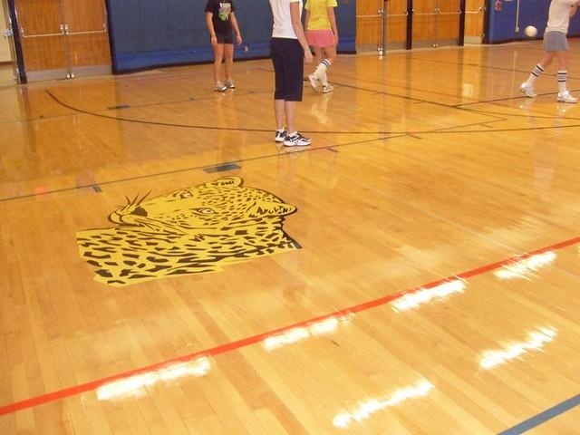 High Solids Gym Finish Head Custodian Dan Scheftgen Uses