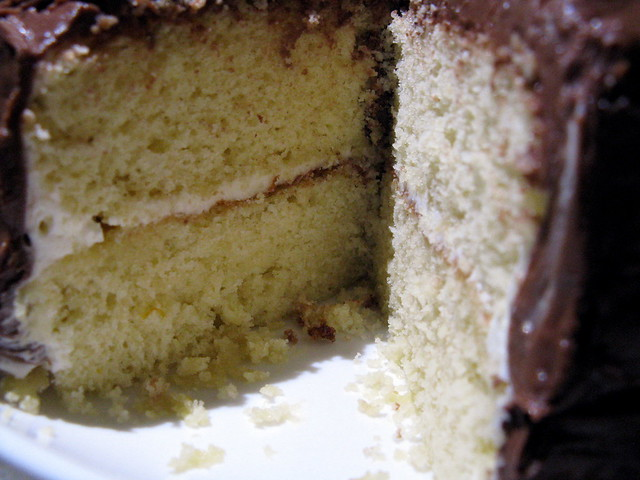 Fluffy Yellow Layer Cake with Chocolate-Orange Frosting | Flickr ...