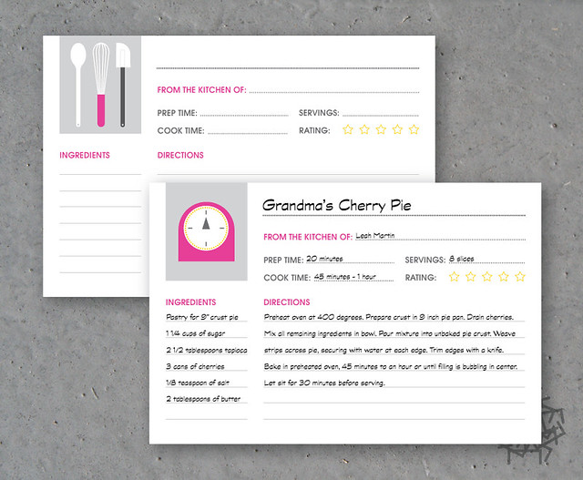 Modern Recipe Cards Modern Recipe Cards | by
