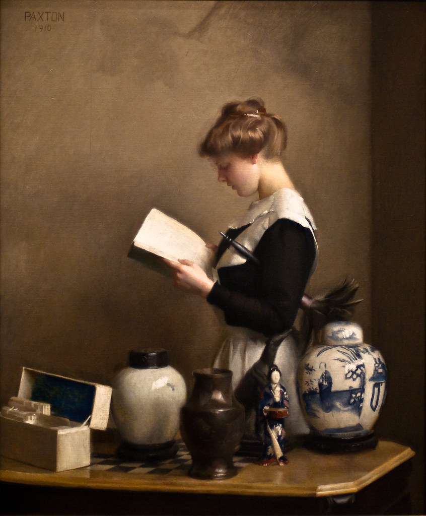 The Housemaid William Mcgregor Paxton 1910 Like Many border=