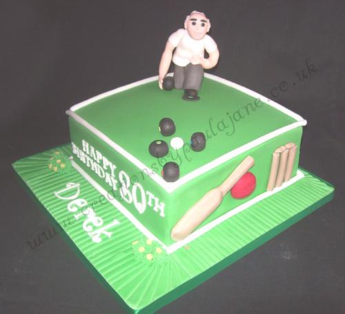 Crown Green Bowling Birthday Cake wwwcreationsbypaulajane Flickr