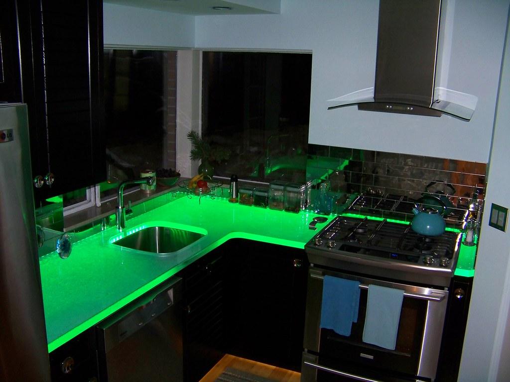 ... ThinkGlass   LED Illuminated Glass Countertop | By ThinkGlass
