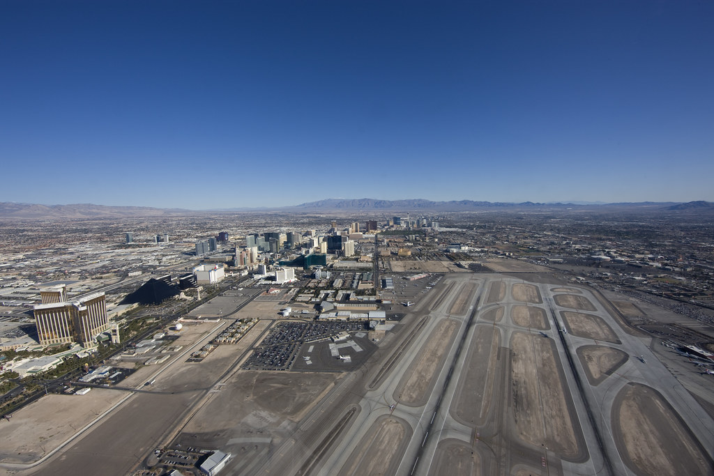 Las Vegas Aerial Taking Off From The Sundance Heliport
