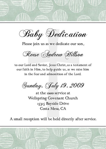Baby Dedication Invitations | Flickr