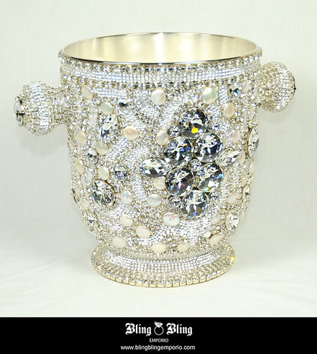 Swarovski crystal home decor champagne bucke this for Swarovski decoration crystals