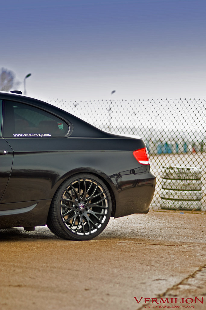 e92 bmw 330i with vermilion regnum black diamond wheels flickr. Black Bedroom Furniture Sets. Home Design Ideas