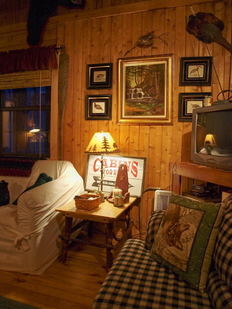 Warm Cozy Cabin Snow Falling Gently Outside A Warm