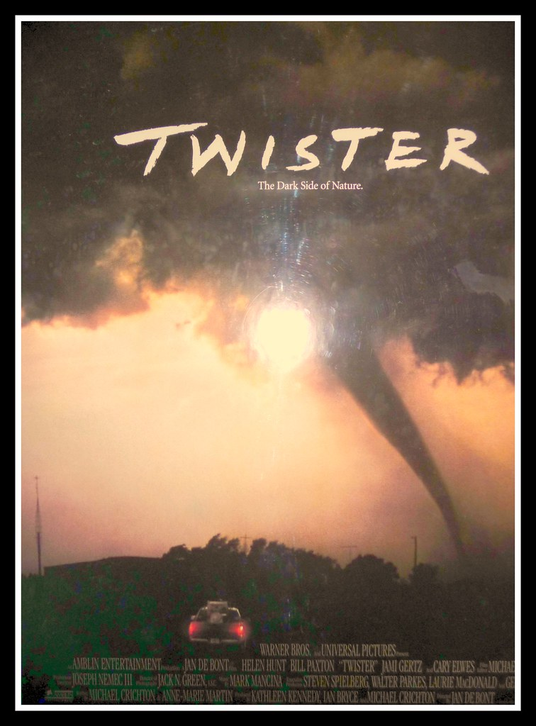 Twister movie poster style b movie poster for the 1996 Twister cast