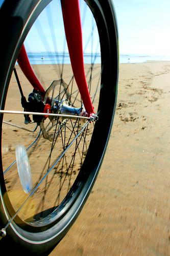 Balloon tire on the sand | by Richard Masoner / Cyclelicious