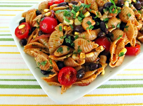 Southwest Pasta Salad with Chili Lime Dressing | by CinnamonKitchn