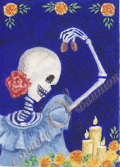 Day of the Dead ATC - Traded | by Lucy O 17