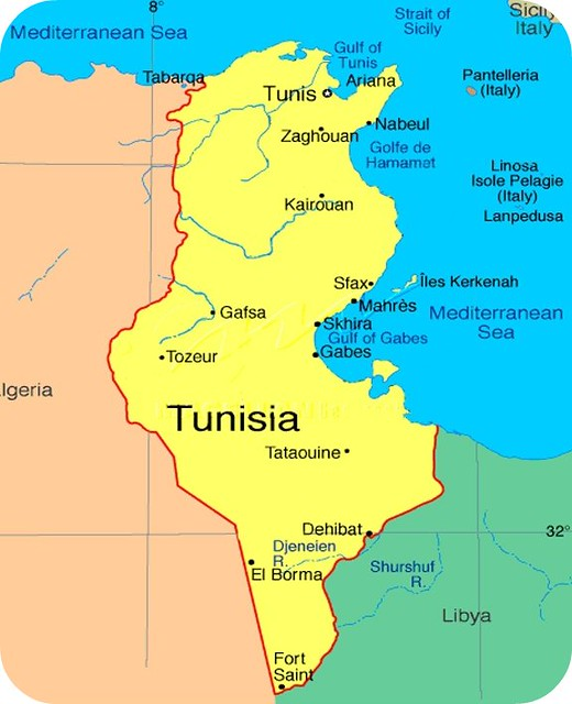 Tunisia Map PilotGirl Flickr