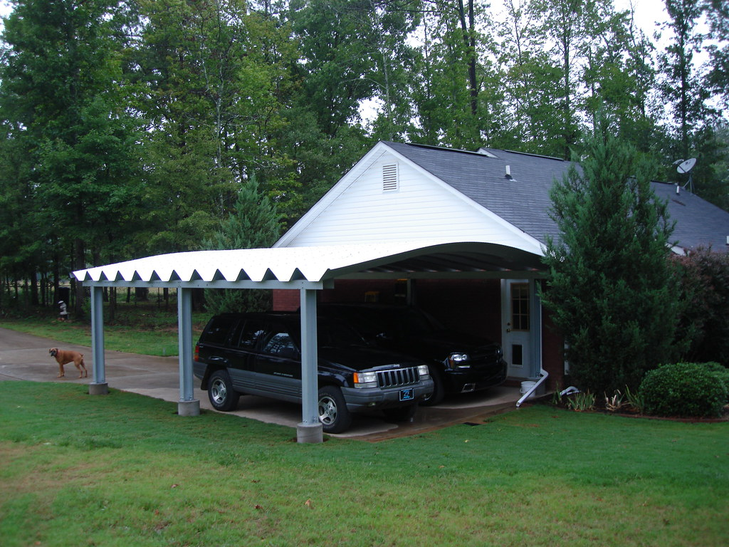 White Aluminum Carports : Steelmaster metal double carport