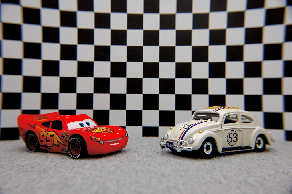 Lightning McQueen vs. Herbie (10/365) | Lightning McQueen: A… | Flickr