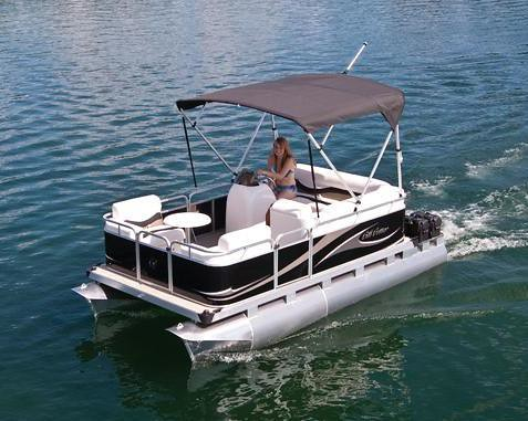 715 Cd Small Electric Pontoon Boat 15 Small Pontoon