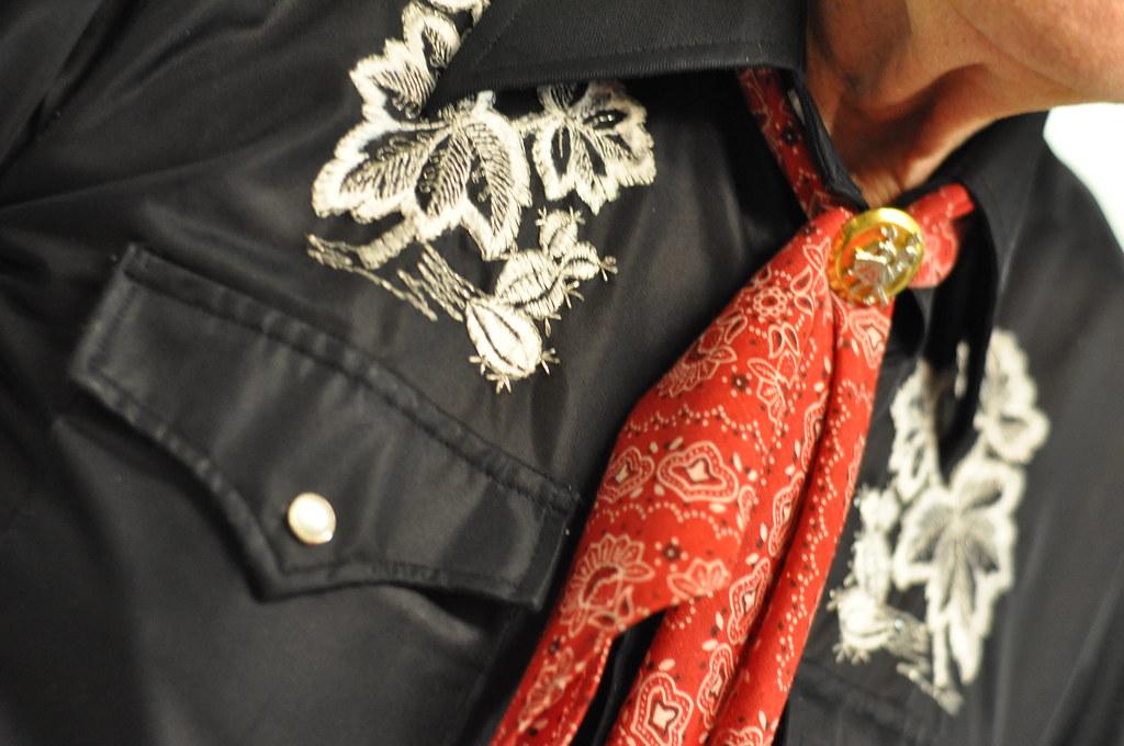 loyd's embroidered western shirt & bandana bolo tie | Flickr