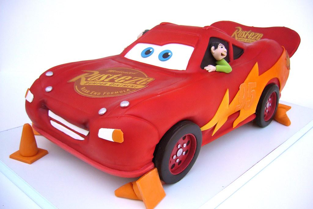 Disney Cars Birthday Cake: Lightning McQueen From The