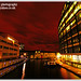 London in a Red Night Dress - Paddington Basin