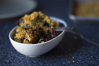 balsamic braised brussels, bread crumbs | by smitten kitchen
