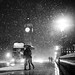 London When it Snows; Big Ben and Lovers