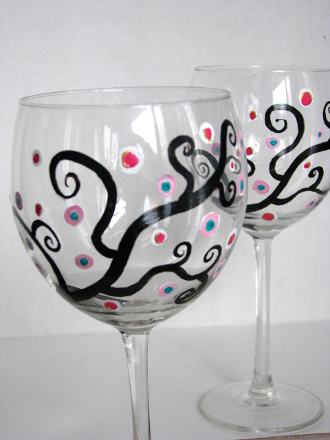 Free Designs For Painting Wine Glasses