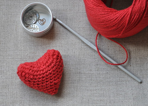 Crocheted Valentine's Day Heart | by // Between the Lines //