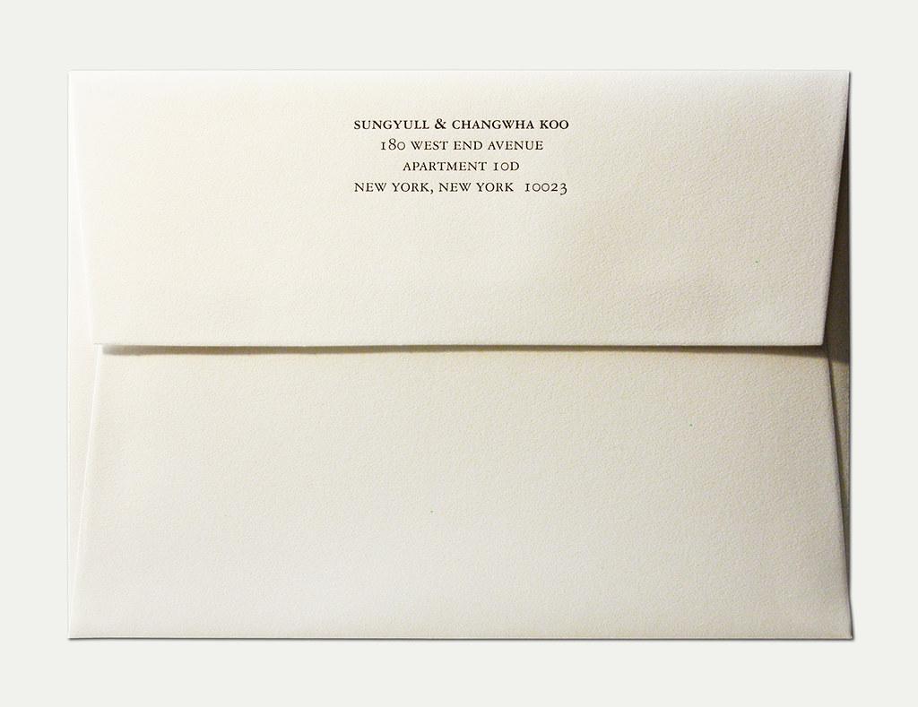 Wedding Invitation Outer Envelope: L&M Wedding Invitation Outer Envelope