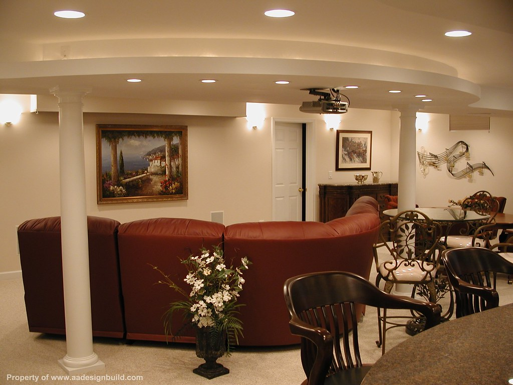 Finished Basement Home Theater Wet Bar Master Bathroom