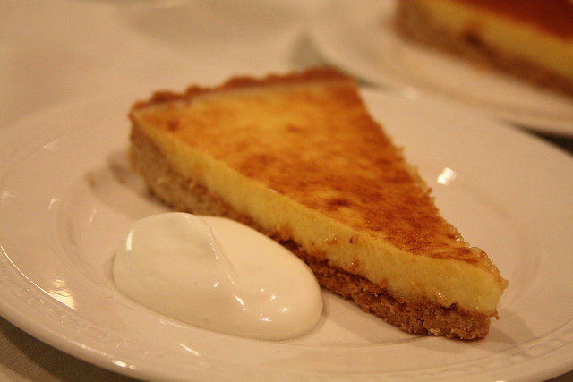 Lemon sabayon-pine nut tart | with honeyed mascarpone cream ...