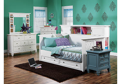 Belmar White 4 Pc Daybed Bedroom