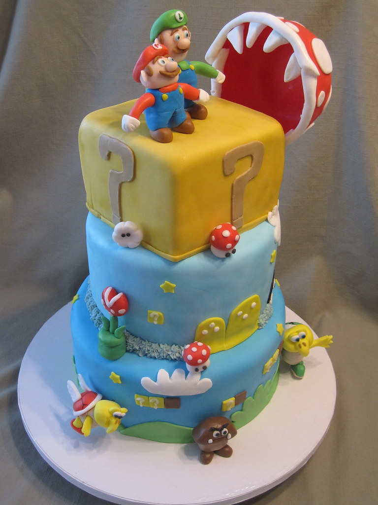 Mario Brothers Cake Images