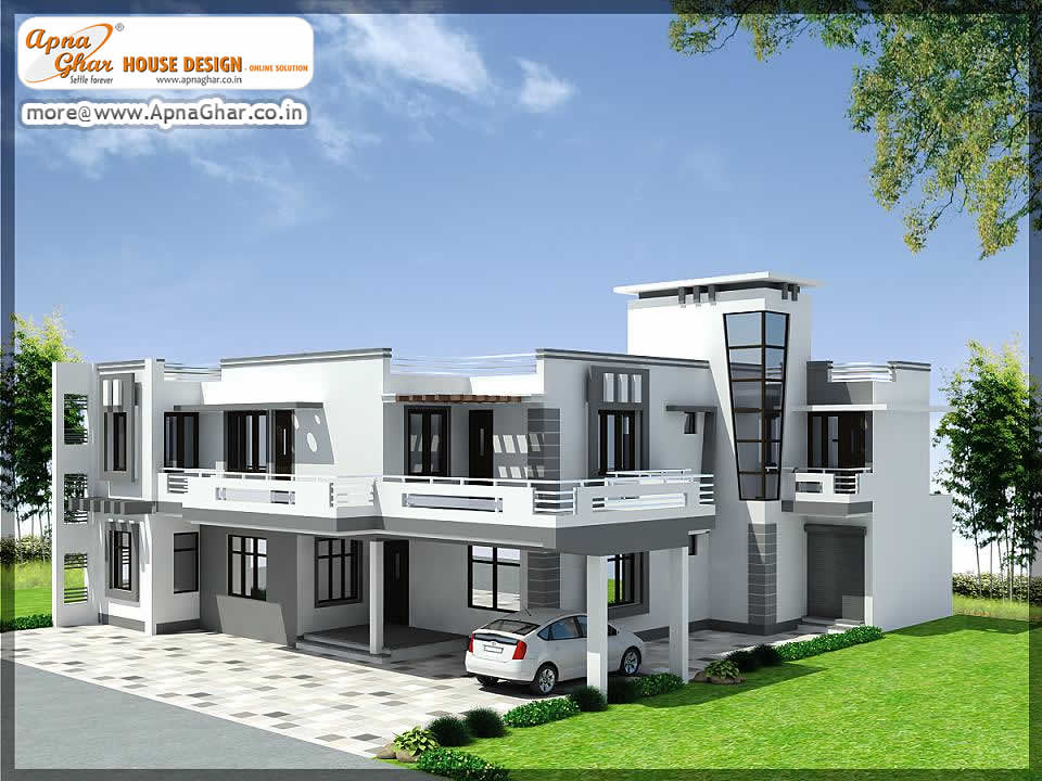 Independent house design exterior design independent for Independent house model pictures