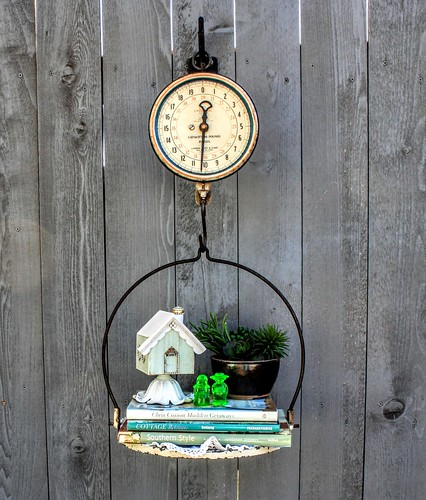 Vignette with vintage scales. | by YourCastlesDecor