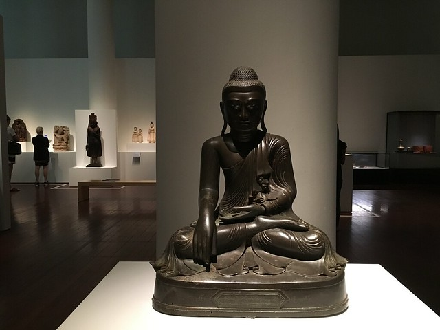 Seated Buddha, Mandalay, 1901. Cities & Kings - Myanmar, Asian Civilisations Museum, Empress Place, Singapore
