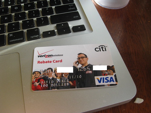 Verizon rebate debit card | by scriptingnews