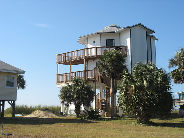 Houses On Stilts Alligator Point Florida By