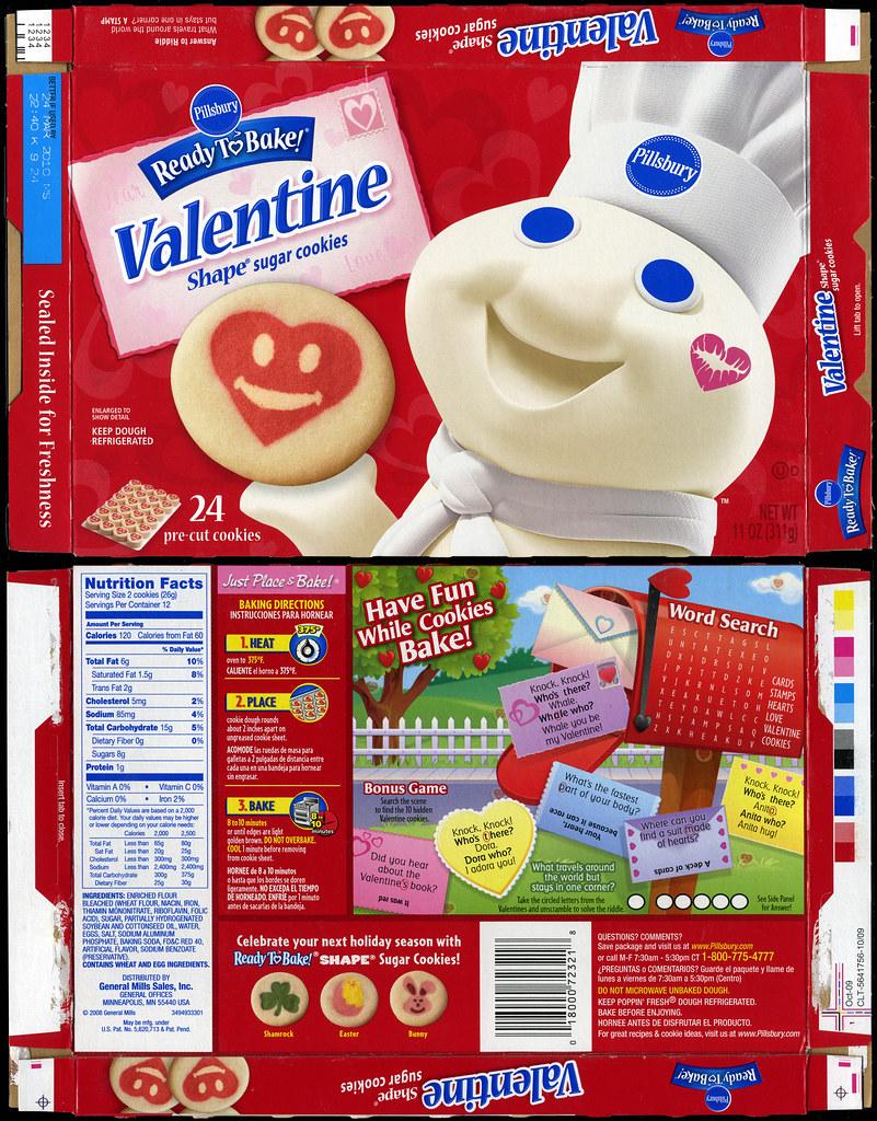 pillsbury ready to bake valentine shape sugar cookies box flickr