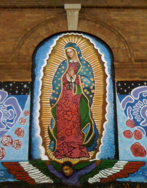 Virgin mary mural love the religious mexican murals in for Christian mural