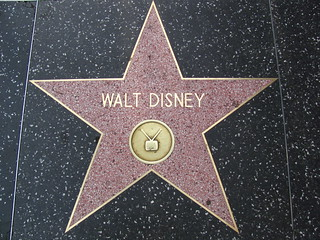 Walt Disney's Star for Television on Hollywood Boulevard | by Castles, Capes & Clones