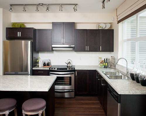 White Laminate Kitchen Cabinets