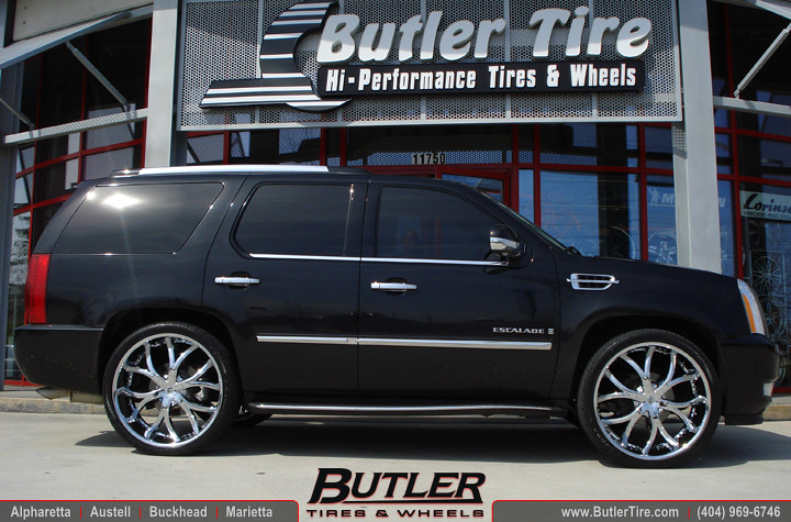 Cadillac On 26 Inch Rims : Cadillac escalade with quot lexani dial wheels and lowered