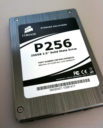 Corsair/Samsung P256 SSD Drive | by Marc Liyanage