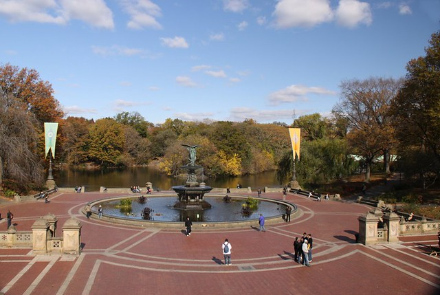 New york central park bethesda terrace the angel of the for 67 park terrace east