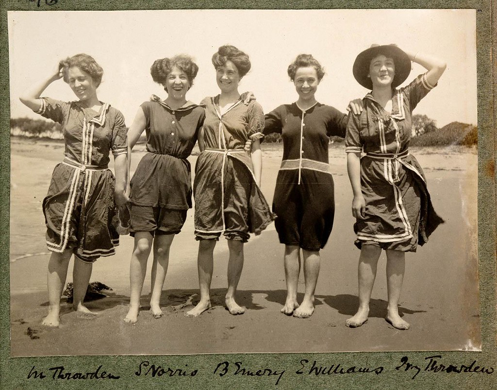 ... Women in bathing suits on Collaroy Beach, 1908, photographed by Colin  Caird | by