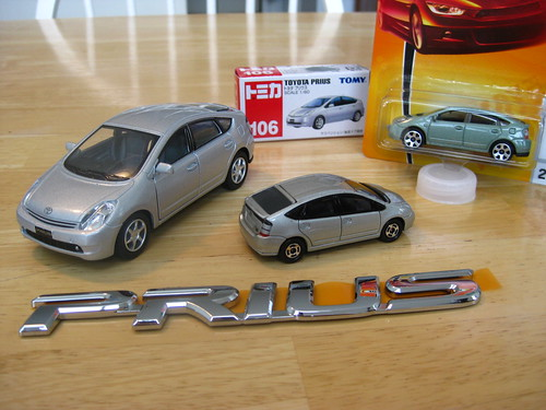 All Car Company >> My diecast Prius family   1:34 Kinsmart at left. Top and ...