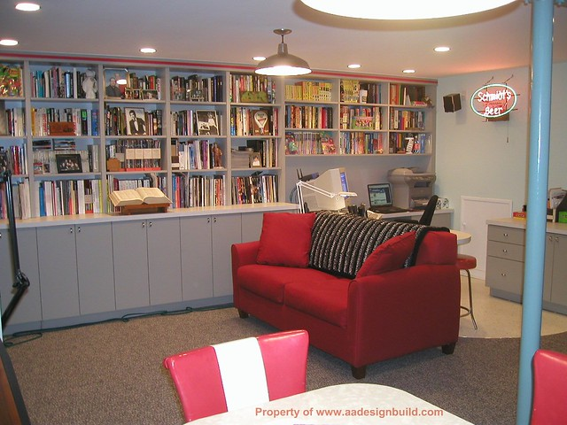 wwwaadesignbuildcom film critics home office finished basement design and remodeling basement office design