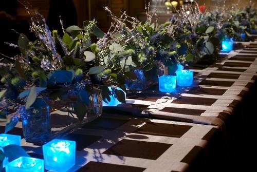 black and blue table setting – Loris Decoration