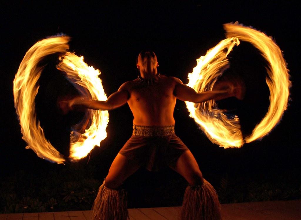 Hawaiian Fire Dance